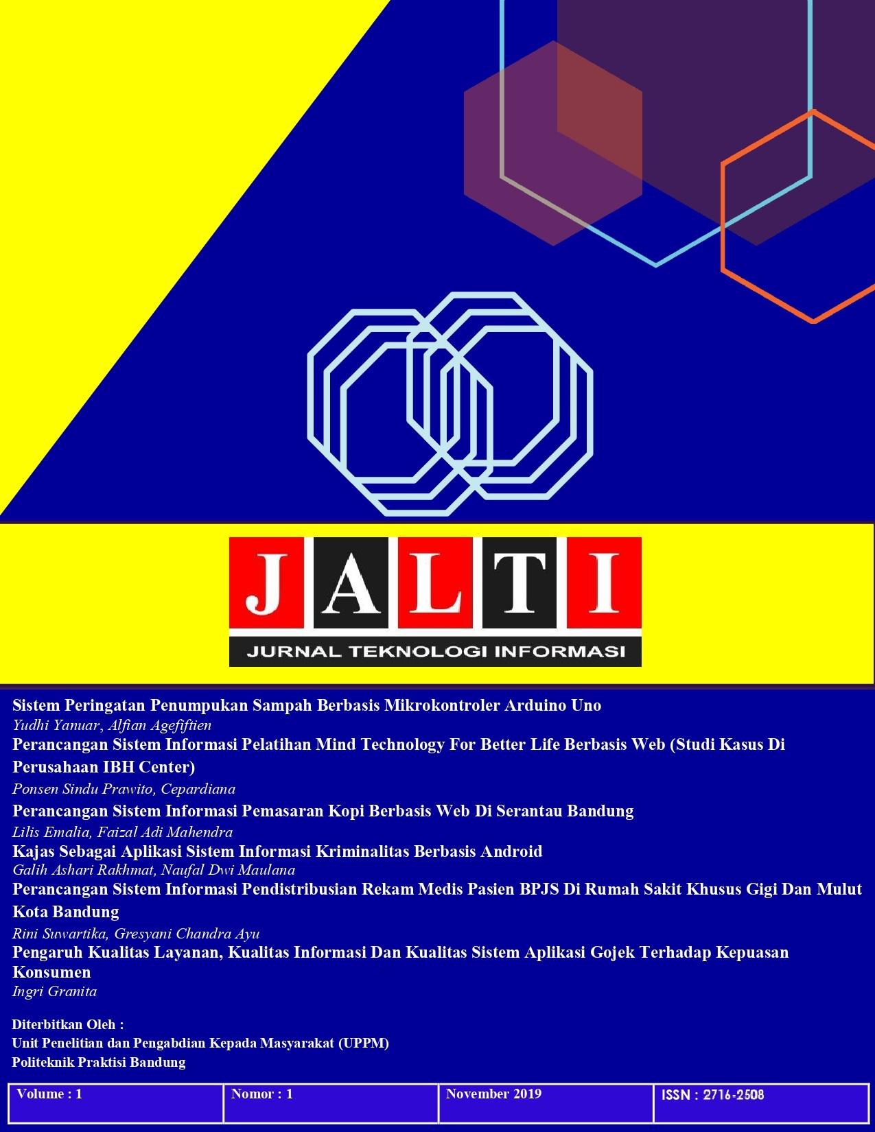 Lihat Vol 1 No 1 (2019): Jurnal Teknologi Informasi (JALTI)